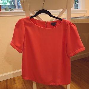 Topshop Short-Sleeved Blouse